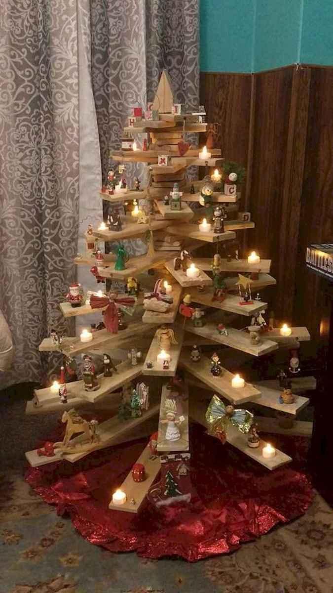 30 Rustic And Vintage Christmas Tree Decor Ideas (16)