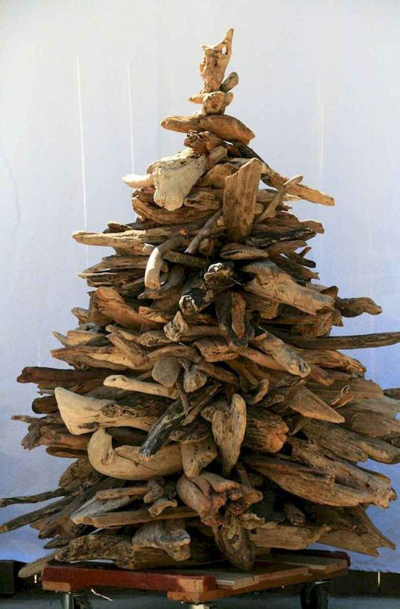 30 Rustic And Vintage Christmas Tree Decor Ideas (23)