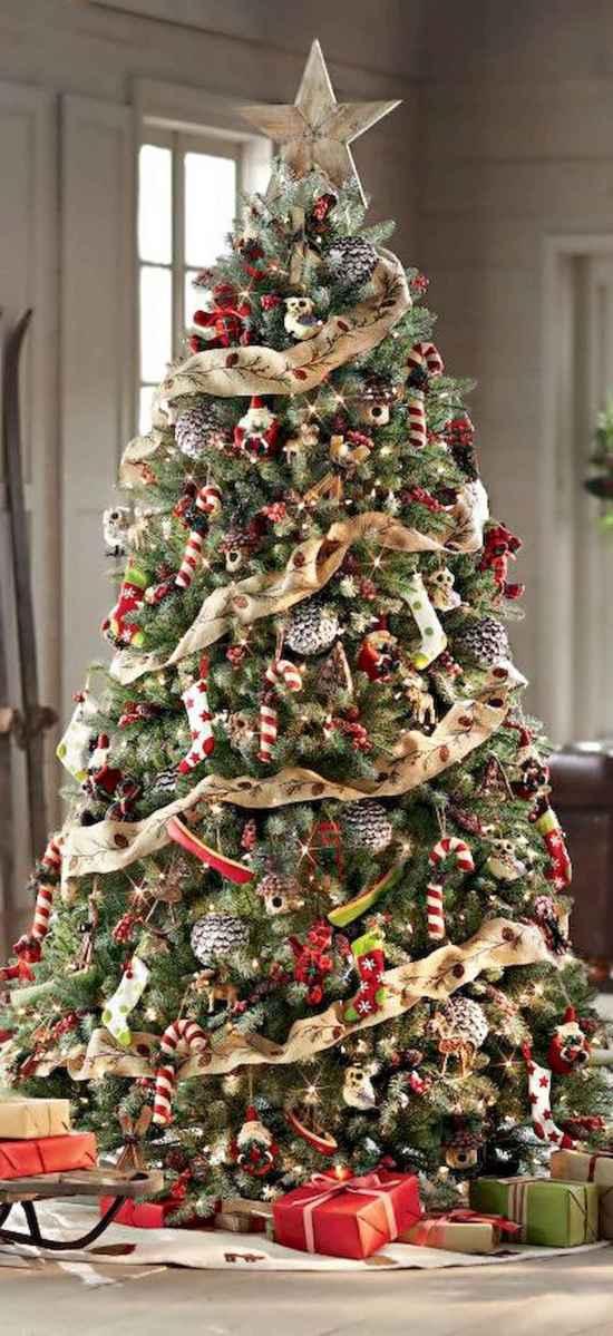 30 Rustic And Vintage Christmas Tree Decor Ideas (28)