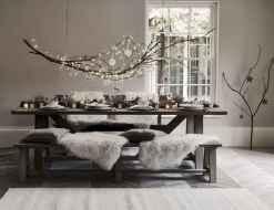 50 Stunning Christmas Table Dining Rooms Decor Ideas (24)