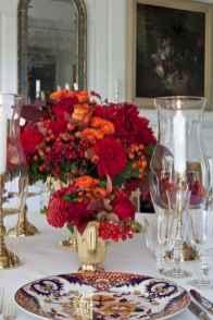 50 Stunning Christmas Table Dining Rooms Decor Ideas (41)