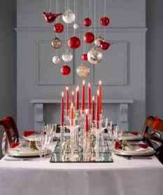 50 Stunning Christmas Table Dining Rooms Decor Ideas (5)