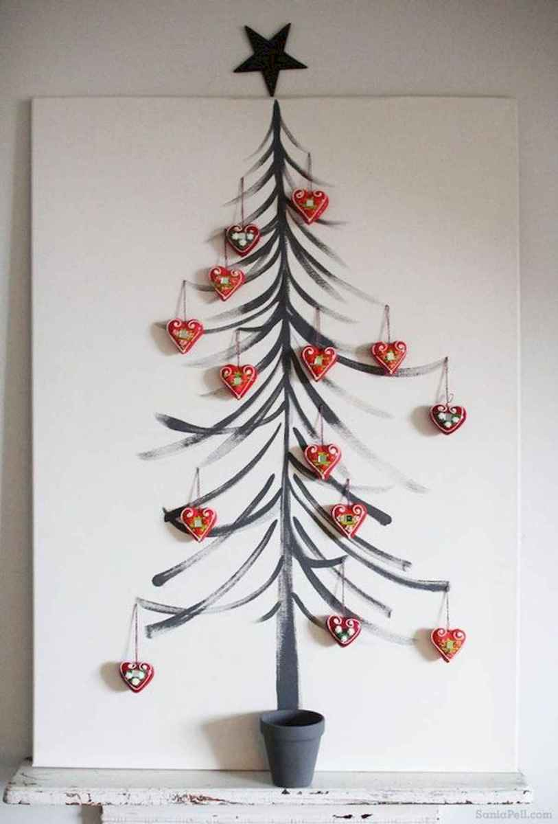 60 Awesome Wall Art Christmas Decor Ideas (3)