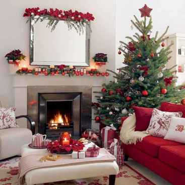 60 Simple Living Room Christmas Decor Ideas (37)