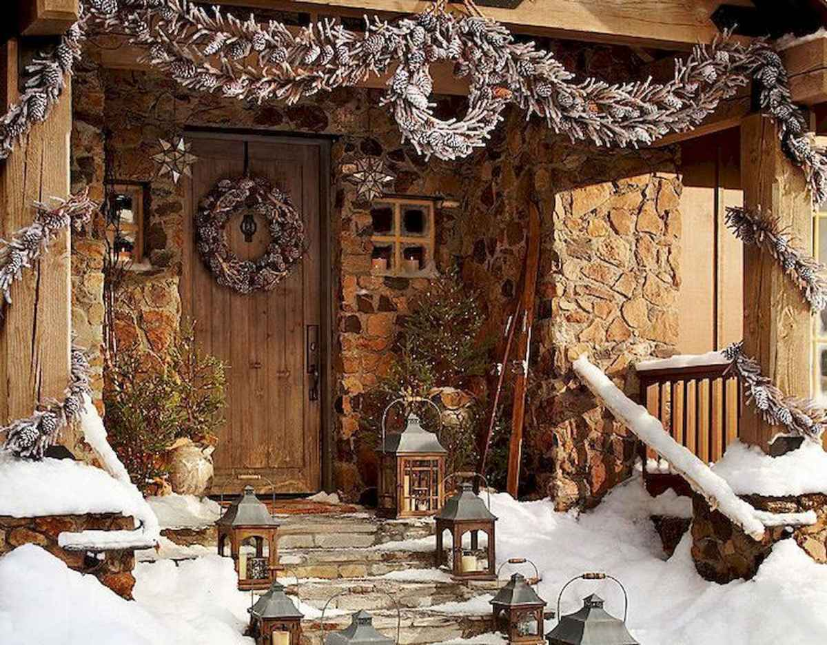 50 Awesome Christmas Front Porch Decor Ideas And Design (10)