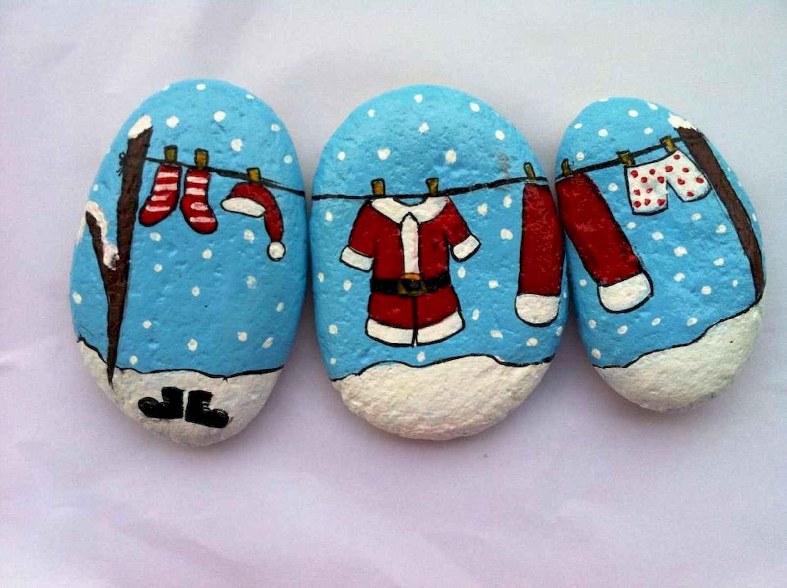50 Easy Diy Christmas Painted Rock Design Ideas
