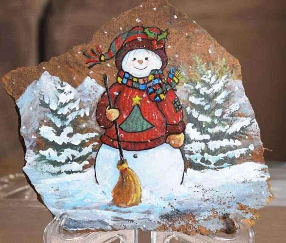 50 Easy DIY Christmas Painted Rock Design Ideas (3)