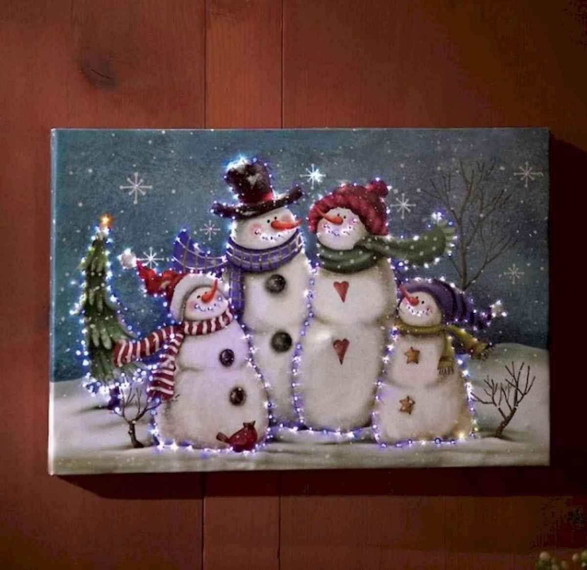 50 Easy DIY Christmas Painted Rock Design Ideas (51)
