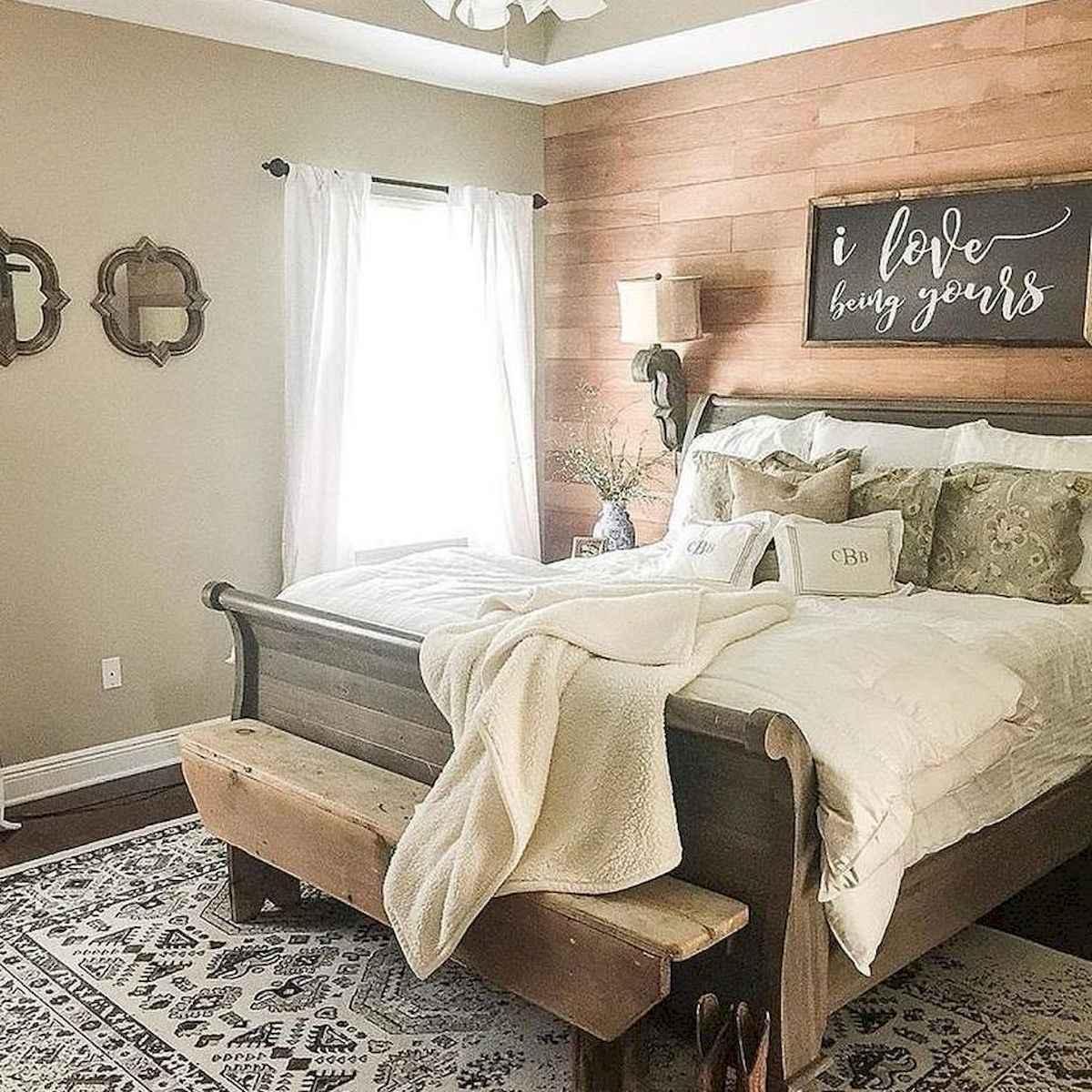 120 Awesome Farmhouse Master Bedroom Decor Ideas (16)