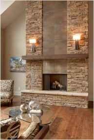 40 Awesome Fireplace Makeover For Farmhouse Home Decor (22)