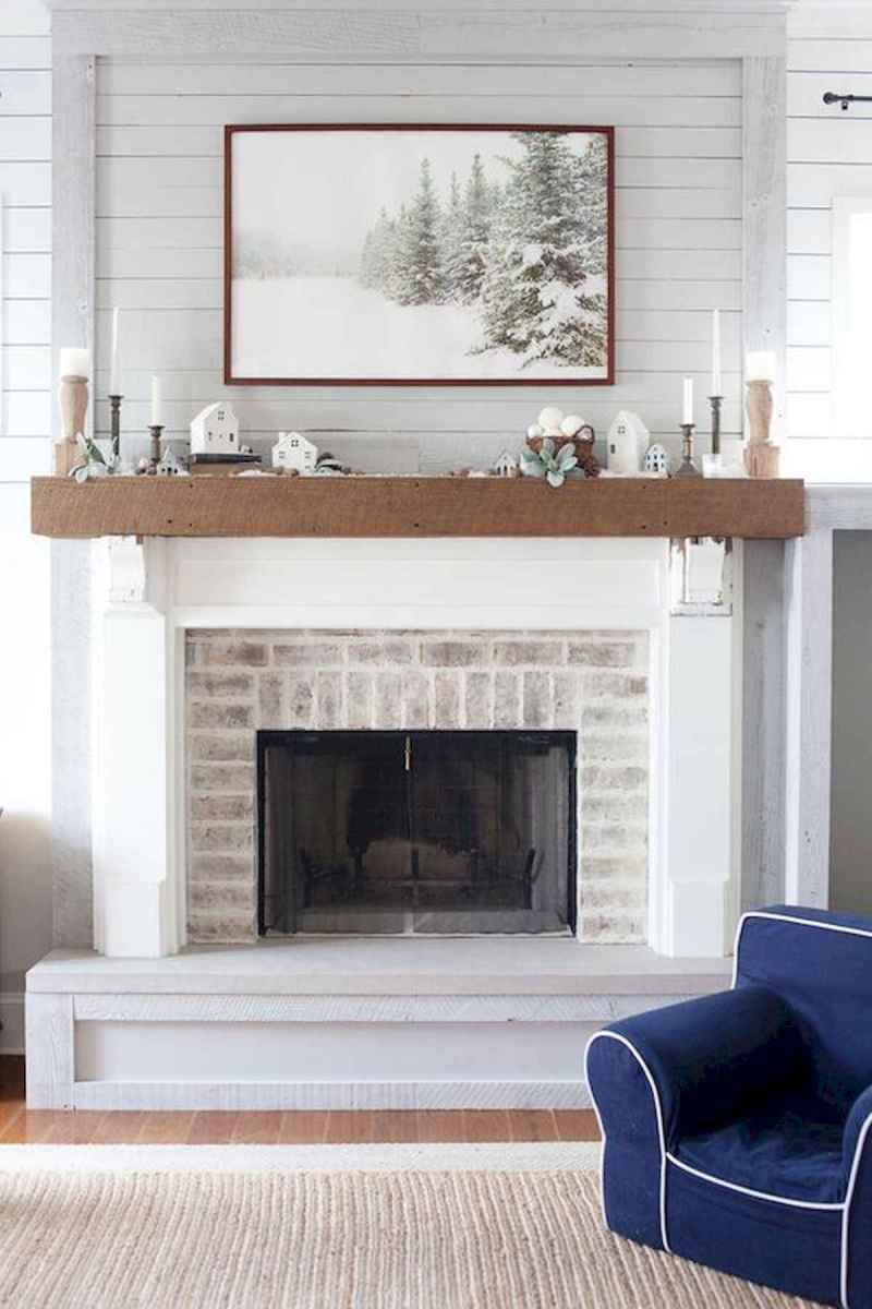 40 Awesome Fireplace Makeover For Farmhouse Home Decor (24)