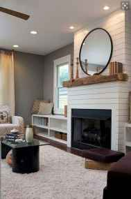 40 Awesome Fireplace Makeover For Farmhouse Home Decor (35)