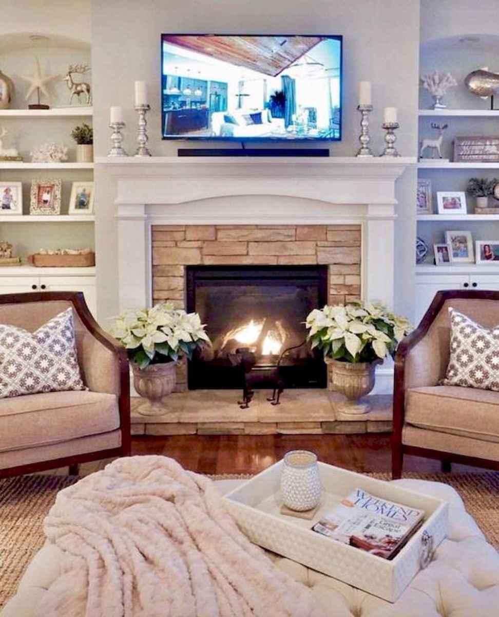 80 Awesome Modern Farmhouse Staircase Decor Ideas: 40 Best Modern Farmhouse Fireplace Mantel Decor Ideas (18