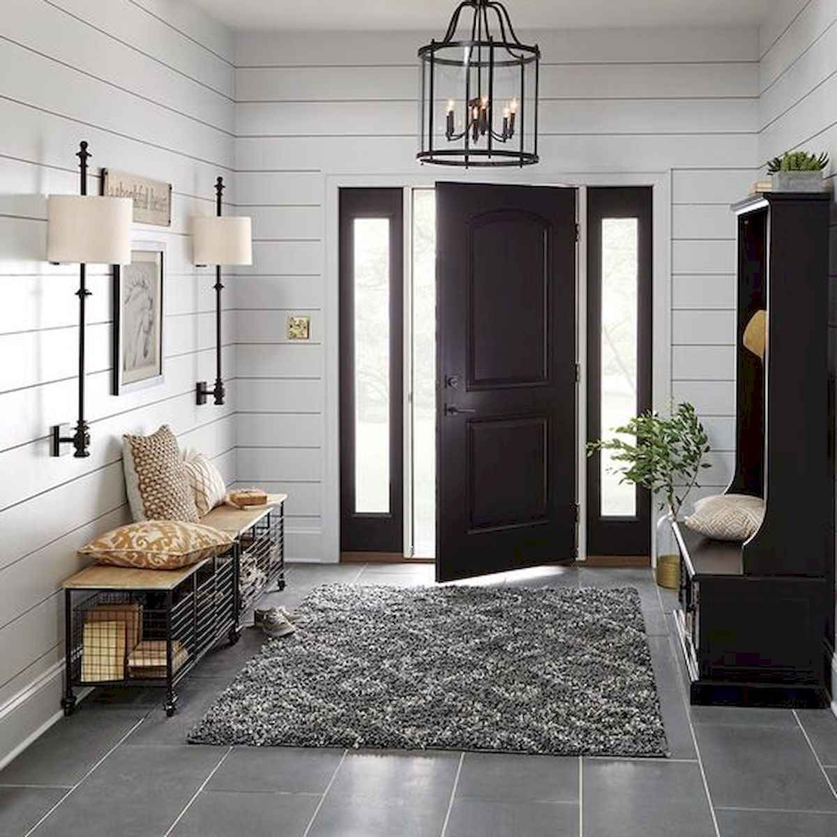 70 Best Modern Farmhouse Front Door Entrance Design Ideas (16)