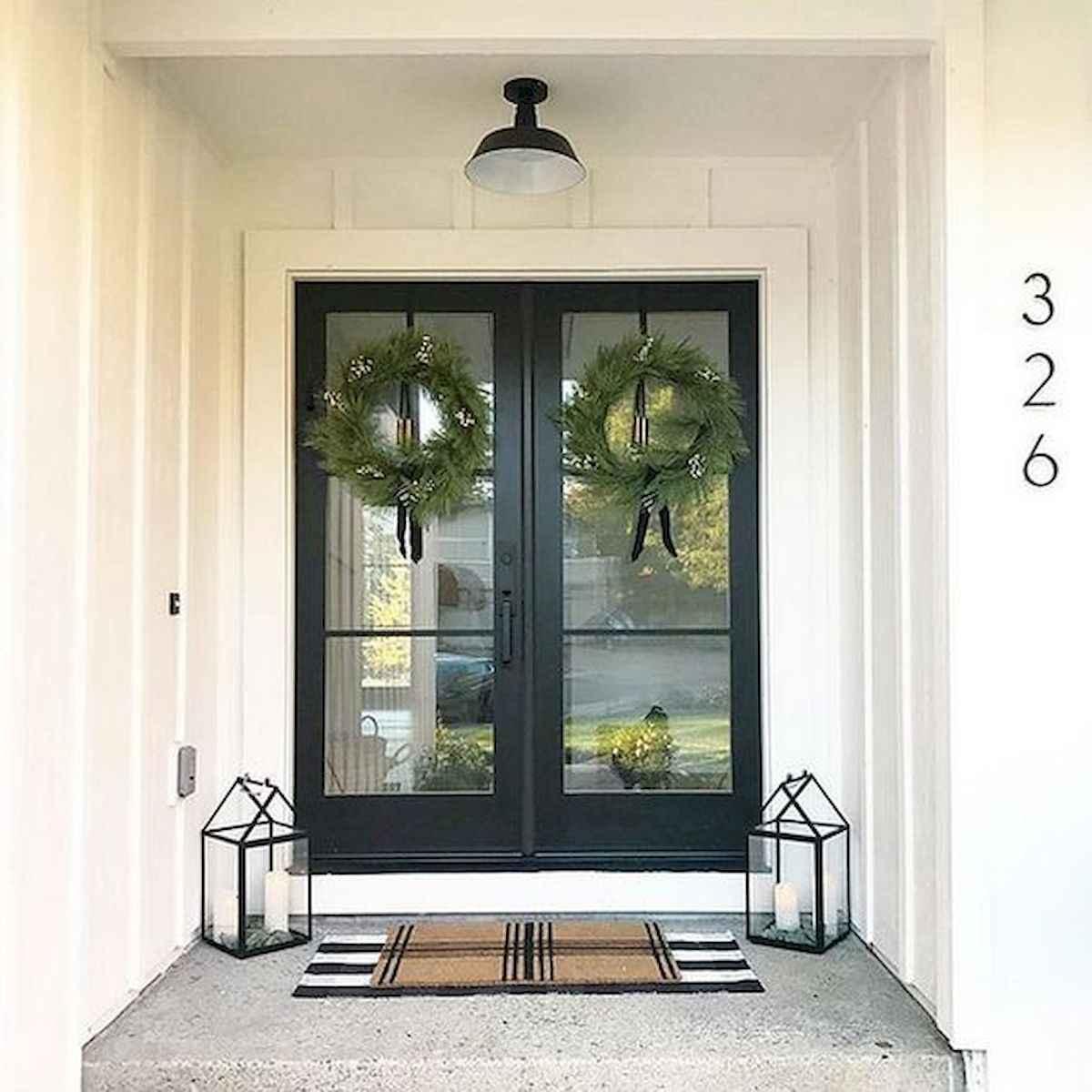 70 Best Modern Farmhouse Front Door Entrance Design Ideas (45)