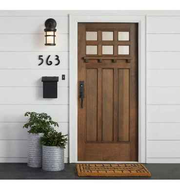 70 Best Modern Farmhouse Front Door Entrance Design Ideas (67)