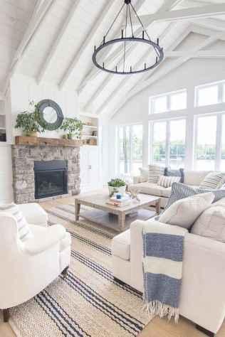 70 Elegant Modern Farmhouse Living Room Decor Ideas And Makeover (53)