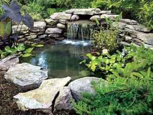 25 Stunning Backyard Ponds Ideas With Waterfalls (20)