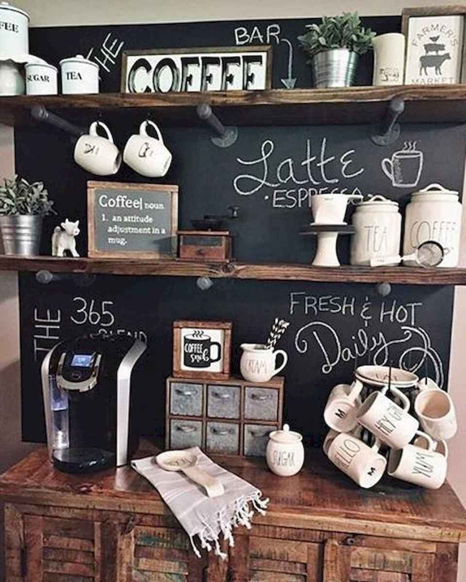 32 Awesome DIY Mini Coffee Bar Design Ideas For Your Home (29)