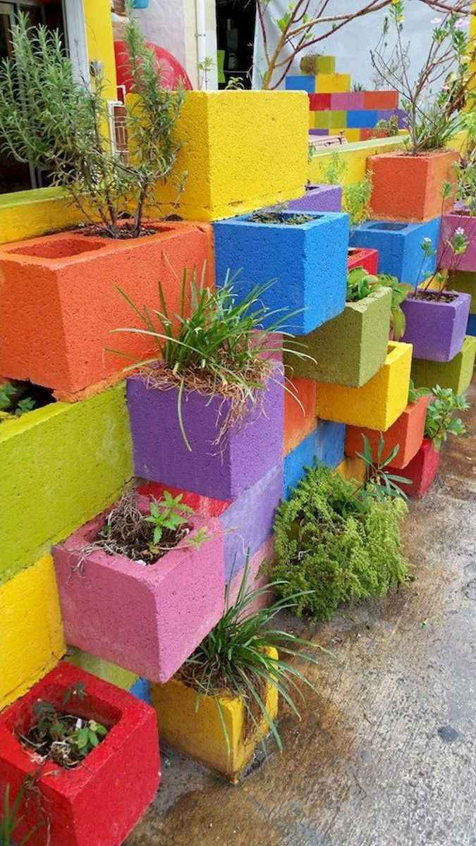 33 Awesome DIY Painted Garden Decoration Ideas for a Colorful Yard (27)
