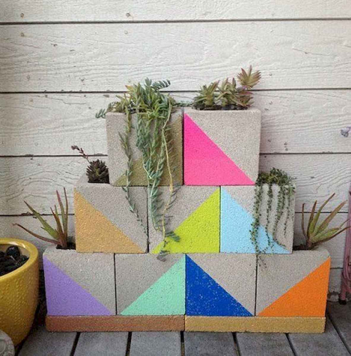 33 Awesome DIY Painted Garden Decoration Ideas for a Colorful Yard (30)