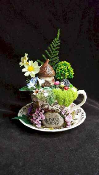 40 Easy DIY Teacup Mini Garden Ideas to Add Bliss to Your Home (20)