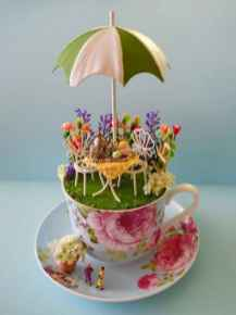 40 Easy DIY Teacup Mini Garden Ideas to Add Bliss to Your Home (27)