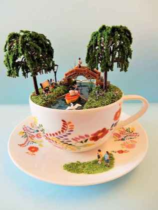 40 Easy DIY Teacup Mini Garden Ideas to Add Bliss to Your Home (33)