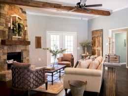 50 Rustic Farmhouse Living Room Decor Ideas (17)