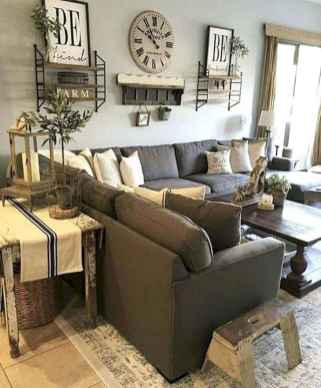 50 Rustic Farmhouse Living Room Decor Ideas (20)