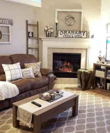 50 Rustic Farmhouse Living Room Decor Ideas (23)