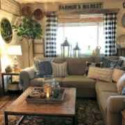 50 Rustic Farmhouse Living Room Decor Ideas (24)