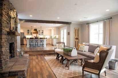 50 Rustic Farmhouse Living Room Decor Ideas (28)