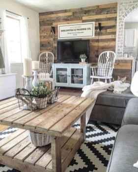 50 Rustic Farmhouse Living Room Decor Ideas (41)