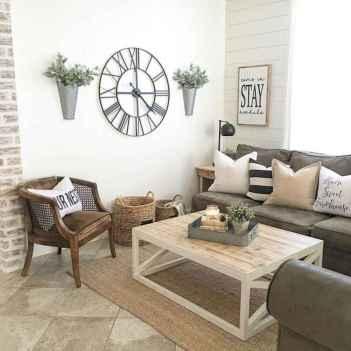 50 Rustic Farmhouse Living Room Decor Ideas (42)