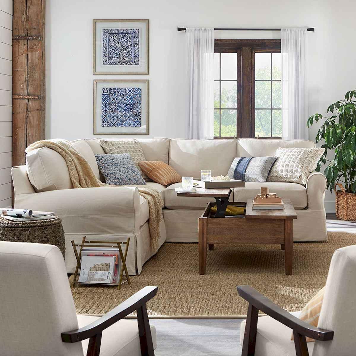 50 Rustic Farmhouse Living Room Decor Ideas (6)