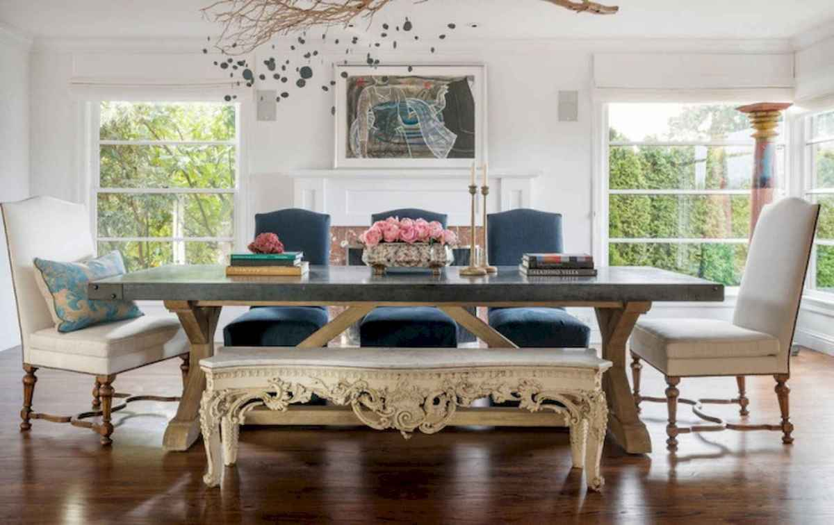 50 Vintage Dining Table Design Ideas And Decor (44)