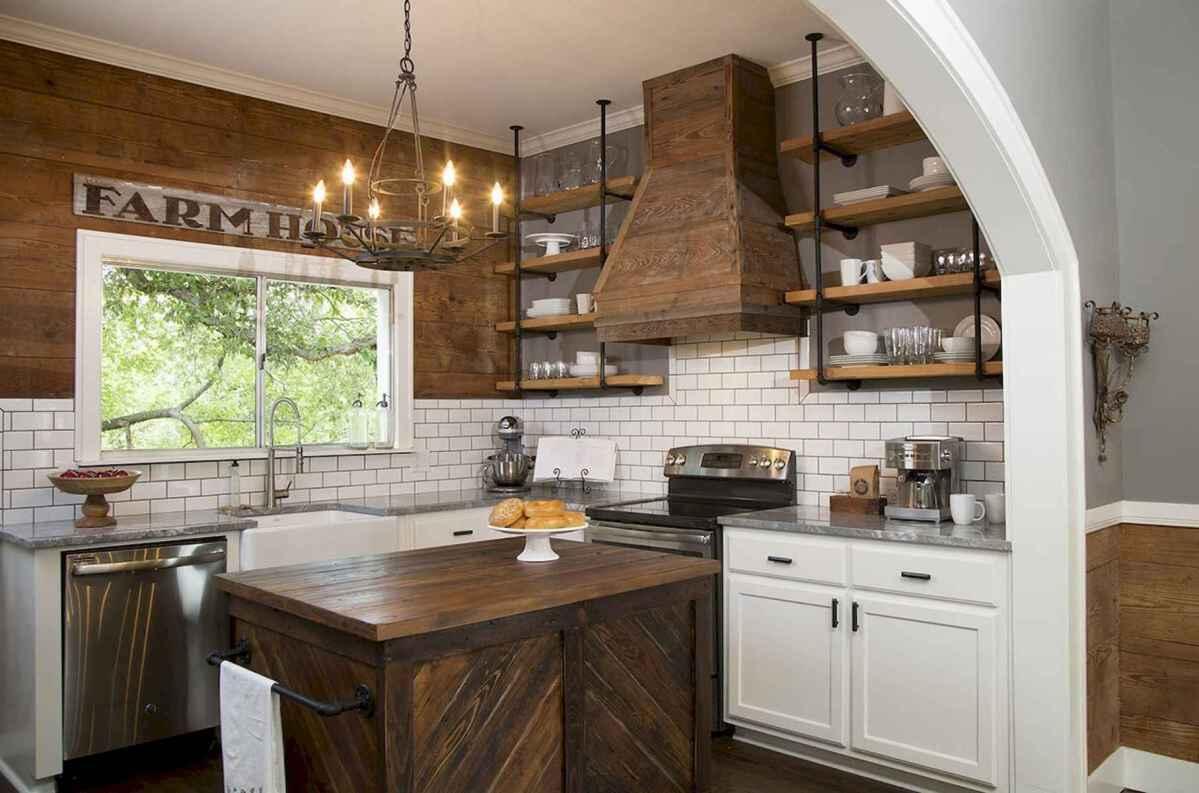 56 Rustic Modern Farmhouse Kitchen Decor Ideas And Remodel ...