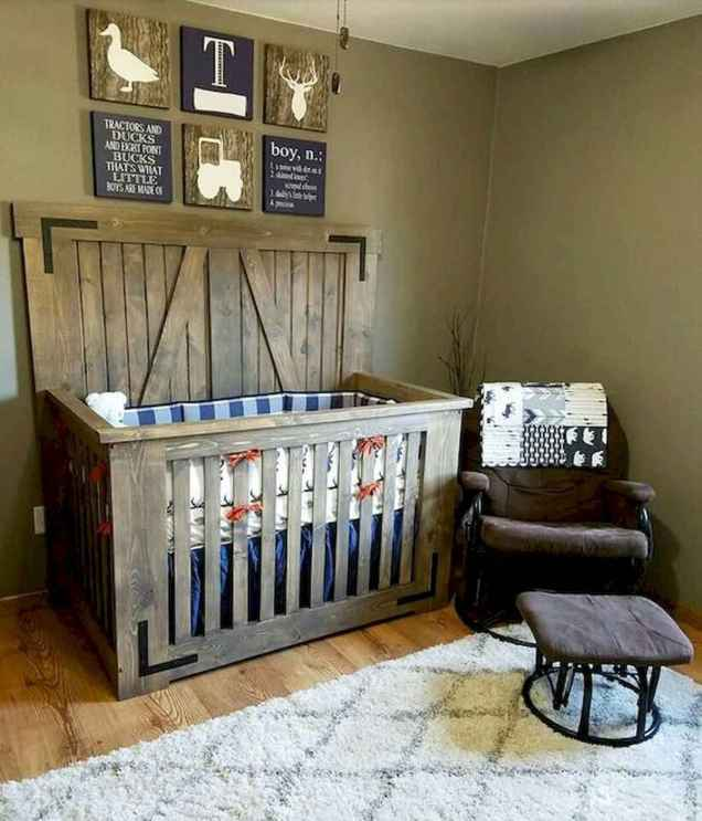 30 Adorable Rustic Nursery Room Ideas (27)