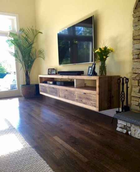 33 Best Farmhouse Living Room TV Stand Design Ideas (7)