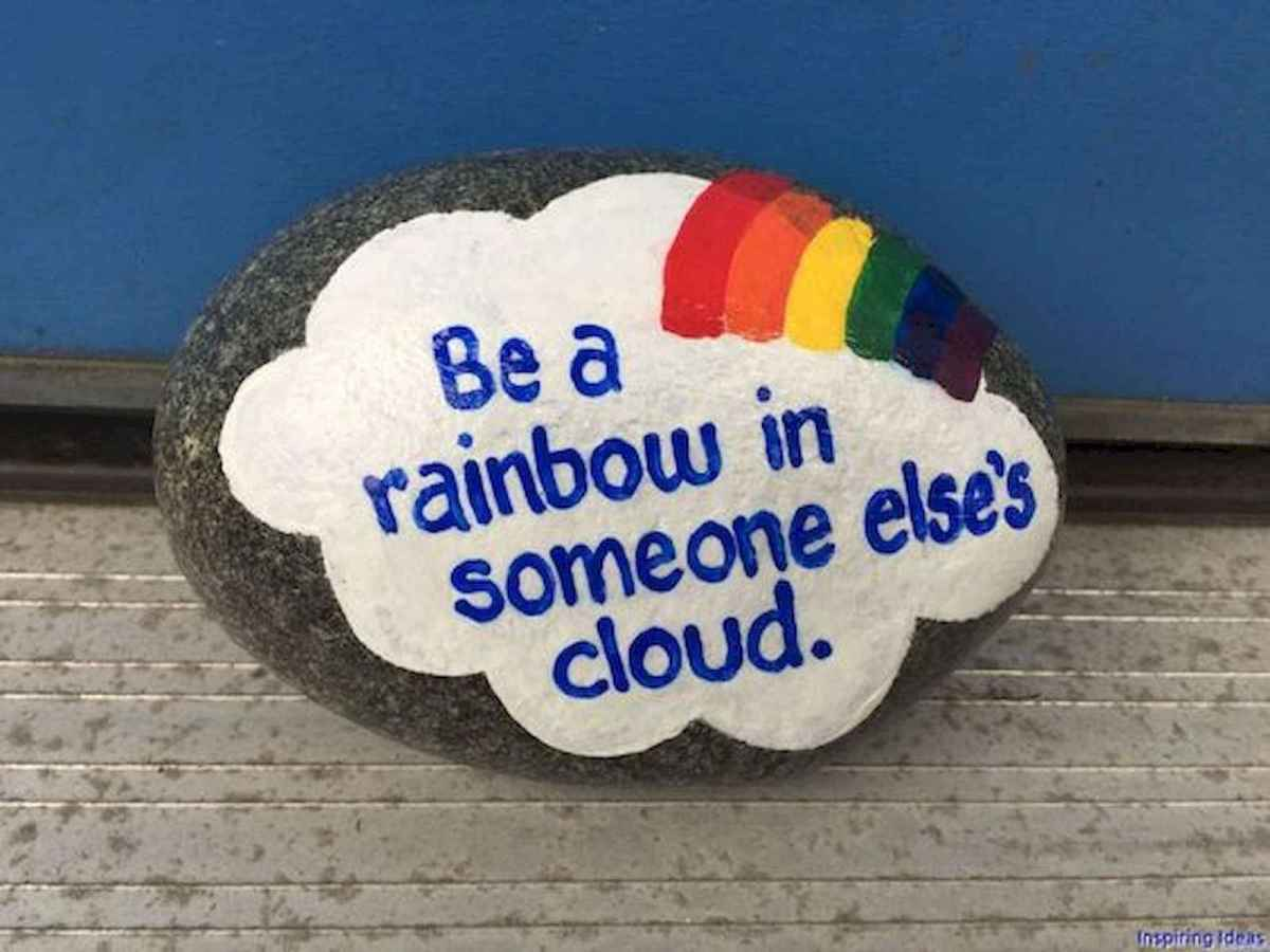 35 Awesome Painted Rocks Quotes Design Ideas (35)