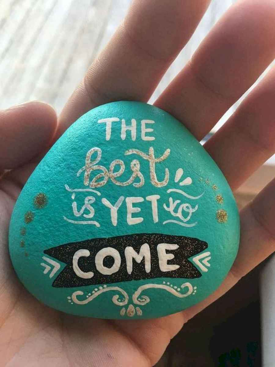 35 Awesome Painted Rocks Quotes Design Ideas (9)