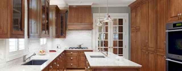40 Best Farmhouse Kitchen Cabinets Design Ideas (24)