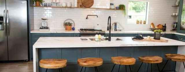 50 Best Modern Farmhouse Kitchen Island Decor Ideas (31)