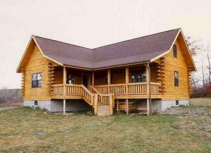 40 Best Log Cabin Homes Plans One Story Design Ideas (10)