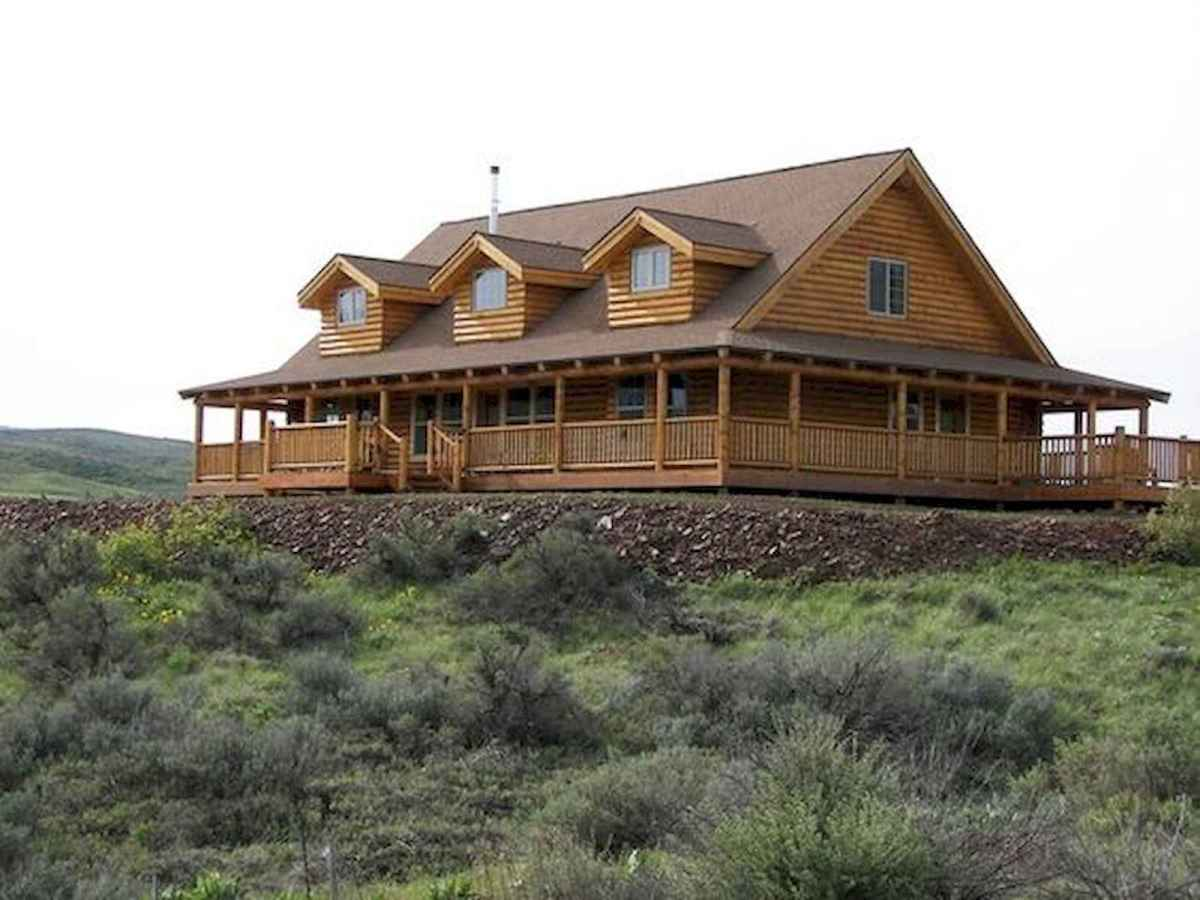 40 Best Log Cabin Homes Plans One Story Design Ideas (17)