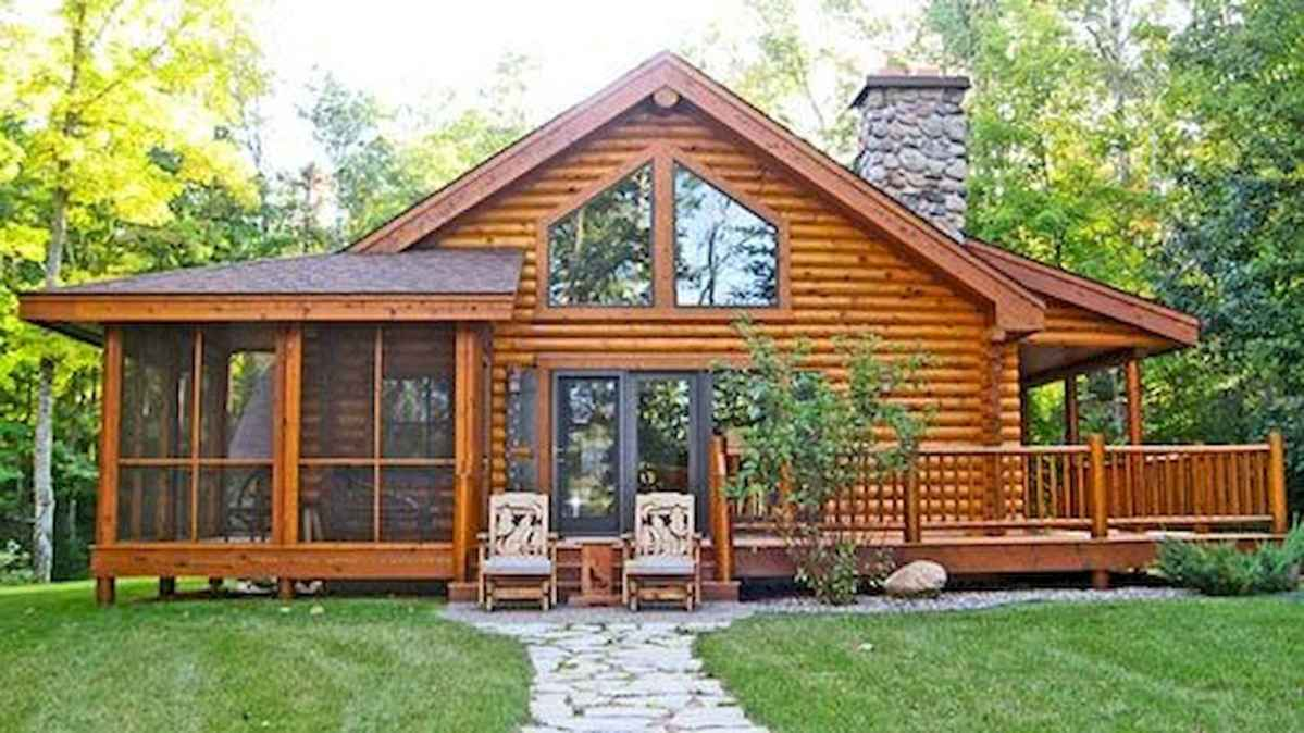 40 Best Log Cabin Homes Plans One Story Design Ideas (2)