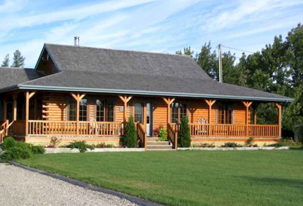 40 Best Log Cabin Homes Plans One Story Design Ideas (27)