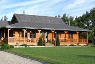 40 Best Log Cabin Homes Plans One Story Design Ideas (27)