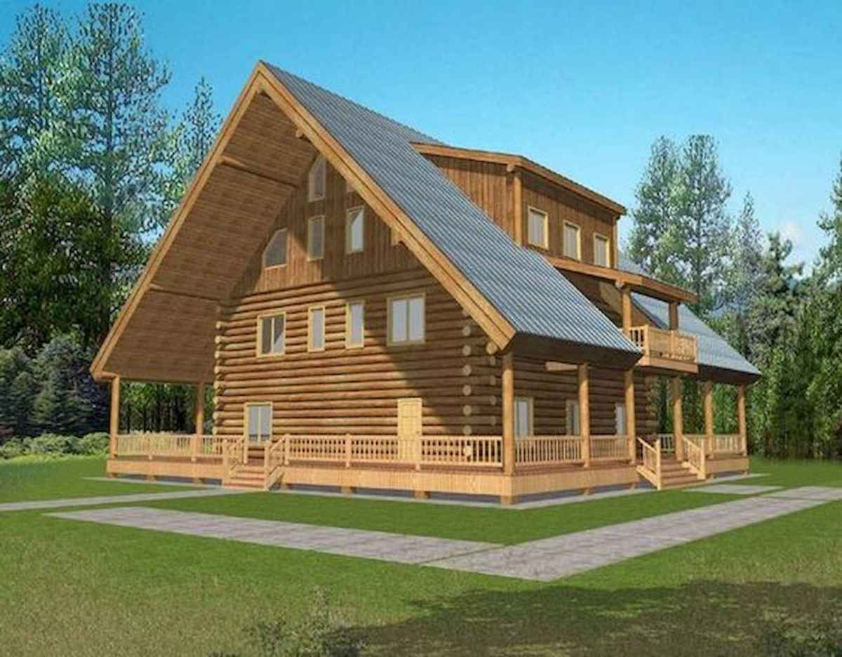 40 Best Log Cabin Homes Plans One Story Design Ideas (33)